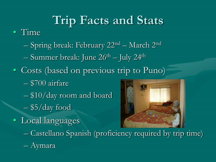 Trip Facts and Stats