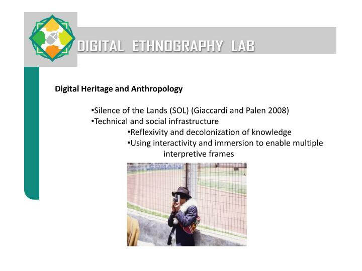 Digital Heritage and Anthropology