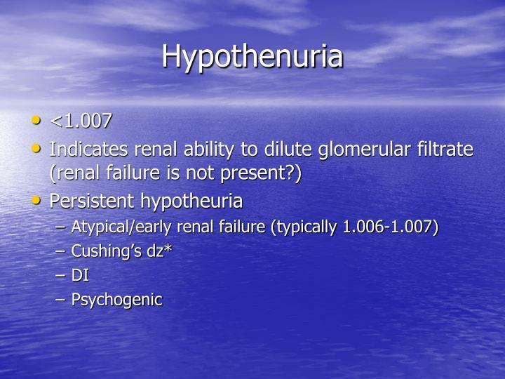 Hypothenuria