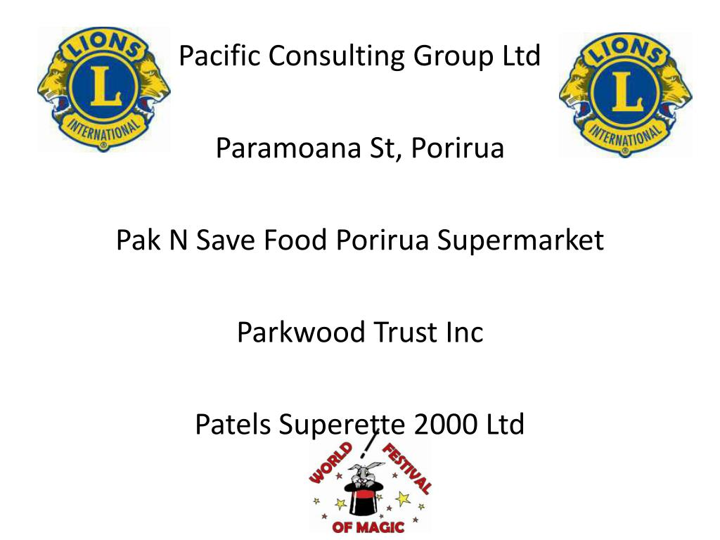PPT - Lions Club of Wellington Host PowerPoint Presentation
