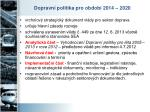 dopravn politika pro obdob 2014 2020