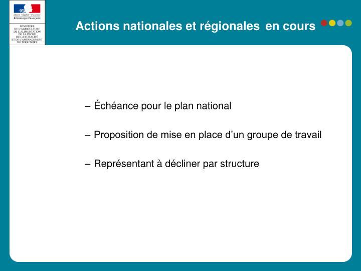 Actions nationales et régionales