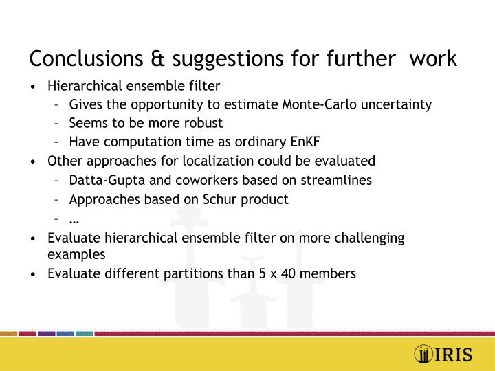 Conclusions & suggestions for further  work