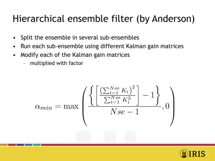 Hierarchical ensemble filter (by Anderson)