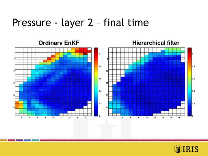 Pressure - layer 2 – final time