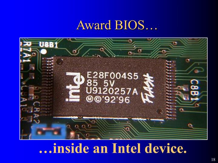 Award BIOS…