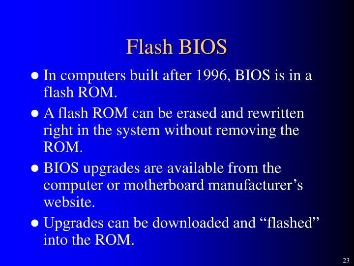 Flash BIOS