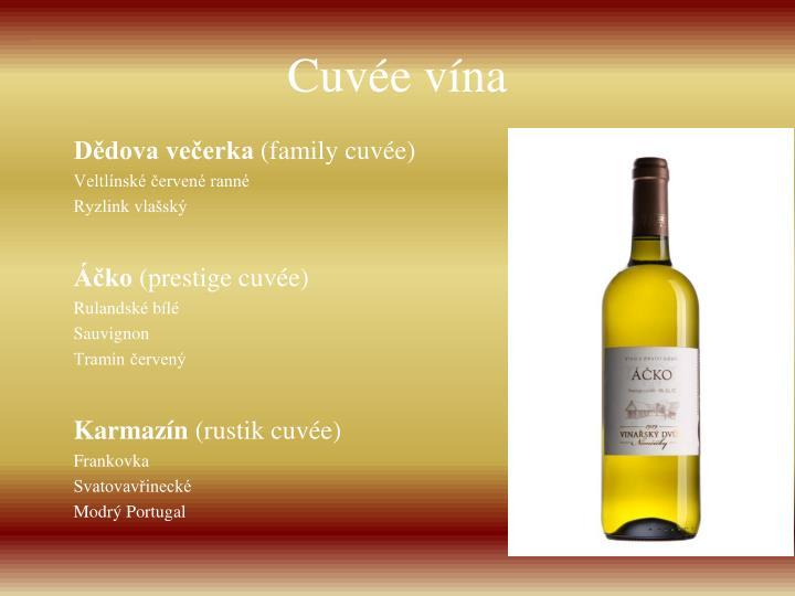 Cuvée vína