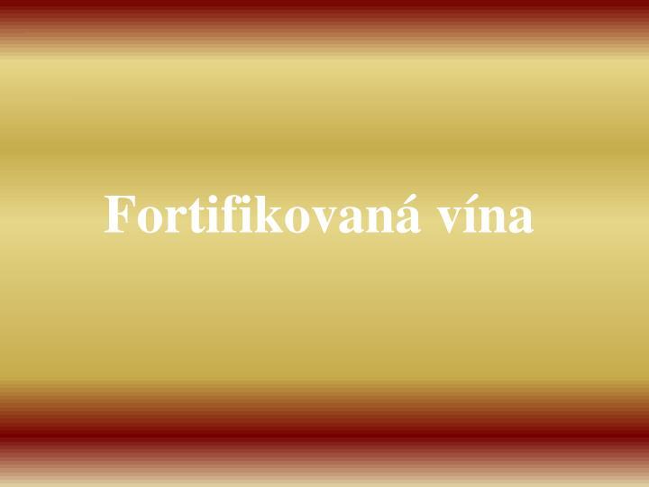 Fortifikovaná vína