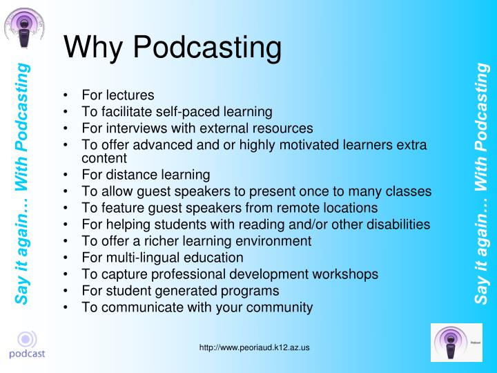 Why podcasting