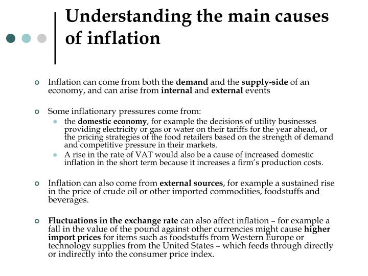 the causes of inflationary pressure on new Give me the right answer of causes of inflation the above remark does not answer the question one way to createinflation is a method of borrowing done by governments.