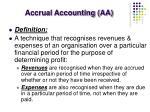 accrual accounting aa