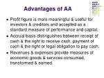 advantages of aa