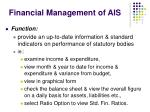 financial management of ais