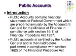 public accounts
