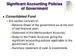 significant accounting policies of government1