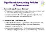 significant accounting policies of government2