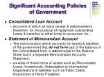 significant accounting policies of government3