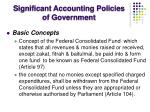 significant accounting policies of government4