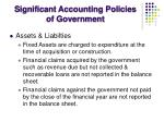 significant accounting policies of government6