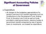 significant accounting policies of government8