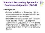 standard accounting system for government agencies saga