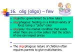 16 olig oligo few