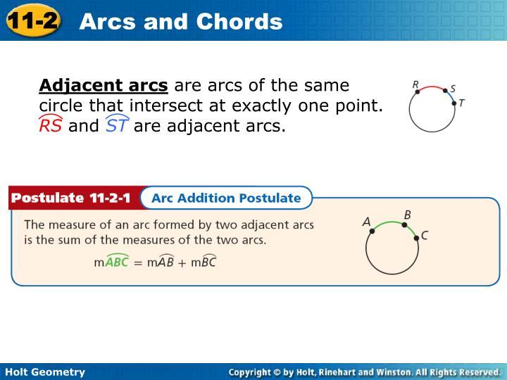 Adjacent arcs
