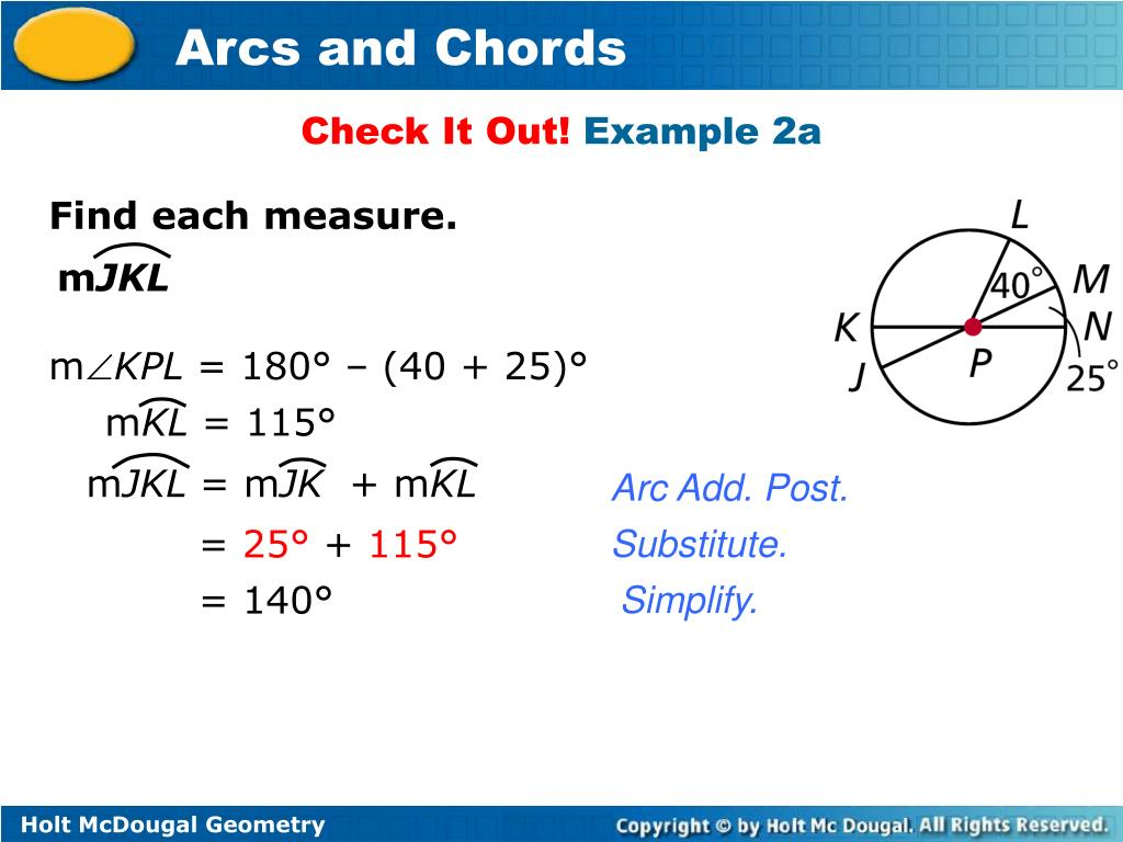 PPT - Arcs and Chords PowerPoint Presentation - ID:4758048