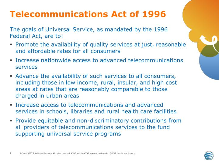 telecommunications act of 1996 essay Show transcribed image text some economists and analysts have said that the telecommunications act of 1996 has brought forth a structural transformation in the telecommunications industry write an essay about the telecoms act in which you cover the following points: a.