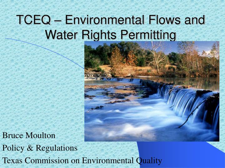 tceq environmental flows and water rights permitting n.