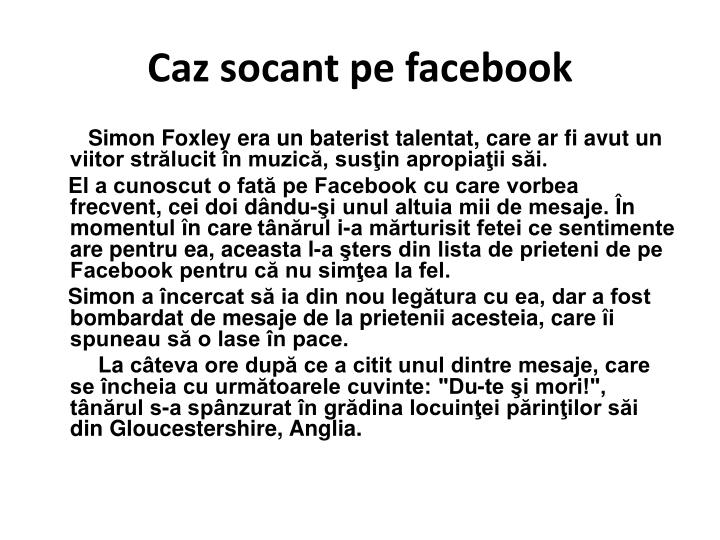 Caz socant pe facebook