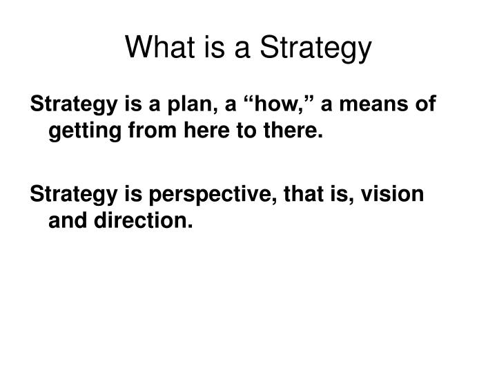 what is a strategy n.