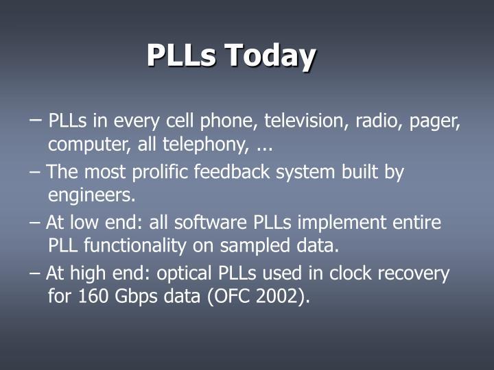 PLLs Today