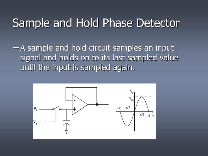 Sample and Hold Phase Detector