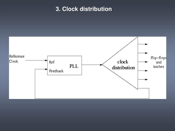 3. Clock distribution