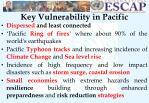 key vulnerability in pacific