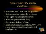 tips for asking the suicide question