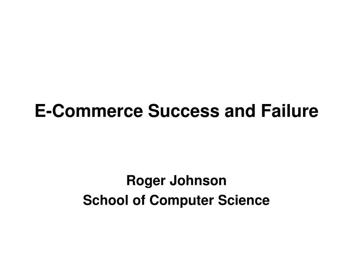 the success and failure of dotcoms B2c crash as an innovation failure: organization learning from the dotcom 1 b2c crash as an innovation failure: on the failure-success aspects of.
