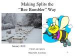 making splits the bee bumbler way17
