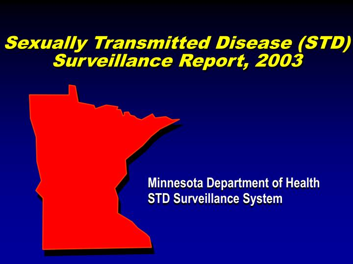 sexually transmitted disease std surveillance report 2003 n.