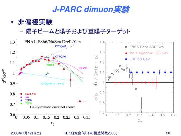 J-PARC dimuon