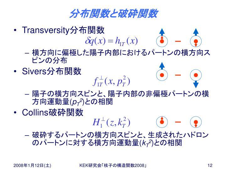 分布関数と破砕関数