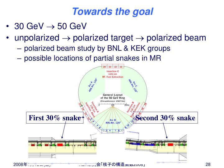 First 30% snake