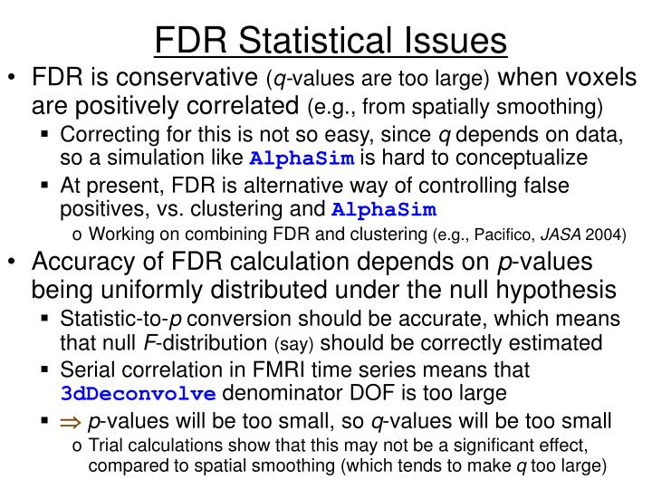 FDR Statistical Issues