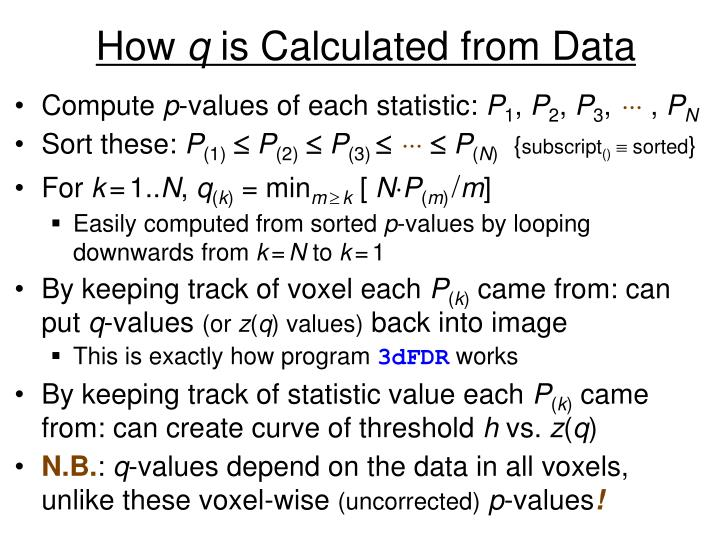 How q is calculated from data