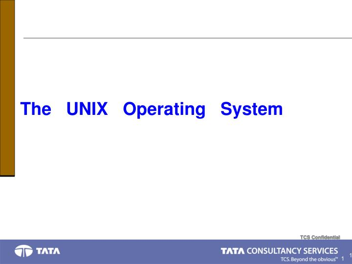 the unix operating system n.