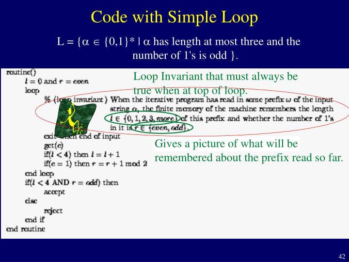 Code with Simple Loop