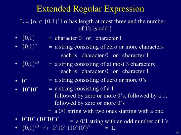 Extended Regular Expression