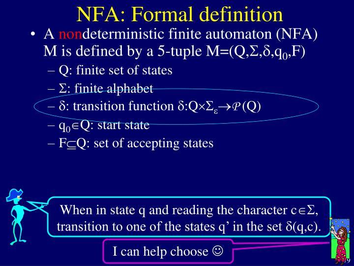 NFA: Formal definition